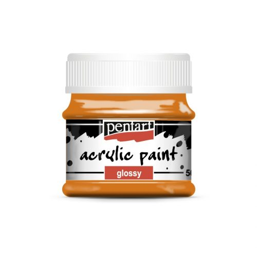 Pentart Fényes akrilfesték 50 ml - Narancs