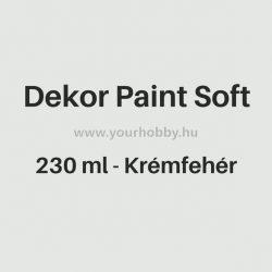 Pentart Dekor Paint Soft lágy dekorfesték 230 ml - krémfehér