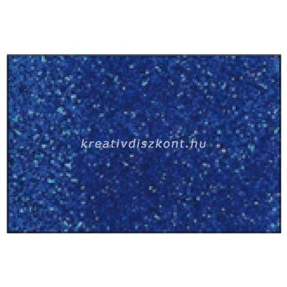 Glitteres dekorgumi lap - A4 élénkkék SBUG10