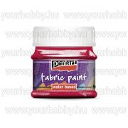 Pentart Textilfesték 50 ml - Kármin