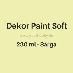Pentart Dekor Paint Soft lágy dekorfesték 230 ml - sárga