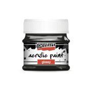 Pentart Fényes akrilfesték 50 ml - Fekete
