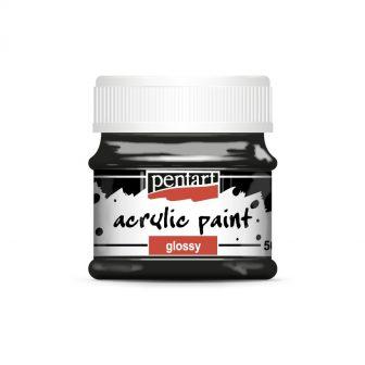 Fényes akrilfesték 42 szín 50 ml fekete