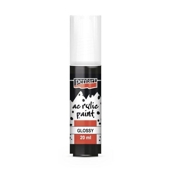 Pentart Fényes akrilfesték 20 ml - Fekete