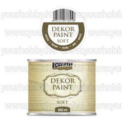 Pentart Dekor Paint Soft lágy dekorfesték 500 ml - fehér