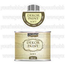 Pentart Dekor Paint Soft lágy dekorfesték 500 ml - sárga