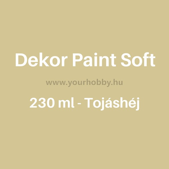 Pentart Dekor Paint Soft lágy dekorfesték 230 ml - tojáshéj