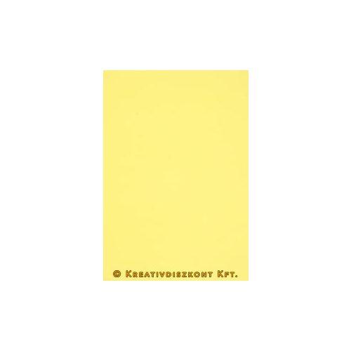 Dekorgumi 20 x 29 cm-es, 12 színben, citromsárga