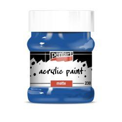 Pentart Matt akrilfesték 230 ml - Kék