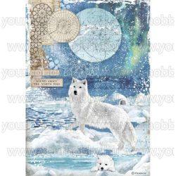 Stamperia Dekupázs rizspapír A4 Farkas DFSA4480