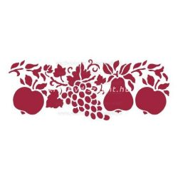 Stamperia Stencil 38x15 cm - Gyümölcsök KSB54