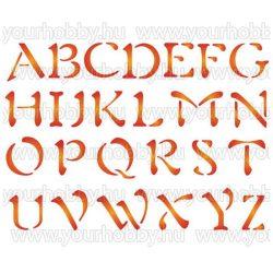 Stamperia Stencil 20x15 cm Ábécé nagybetűk I. KSD67