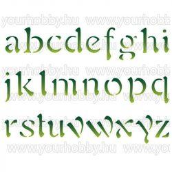 Stamperia Stencil 20x15 cm Ábécé kisbetűk KSD68