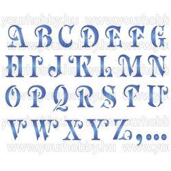 Stamperia Stencil 20x15 cm Ábécé nagybetűk KSD69