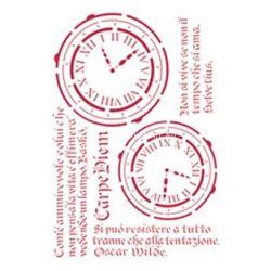 Stamperia Stencil 21x29,7 cm - Élj a mának KSG160