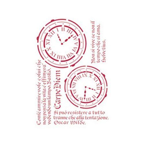 Stamperia Stencil 21x29,7 cm Élj a mának KSG160