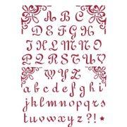 Stamperia Stencil 21x29,7 cm - Ábécé 2 KSG26