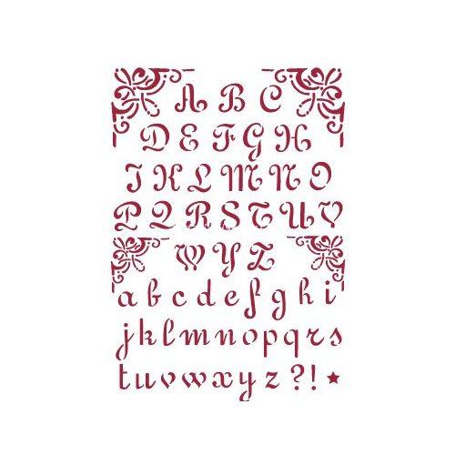 Stamperia Stencil 21x29,7 cm Ábécé 2 KSG26