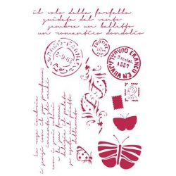 Stamperia Stencil 21x29,7 cm Képeslapok KSG289