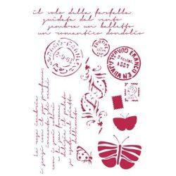 Stamperia Stencil 21x29,7 cm - Képeslapok KSG289