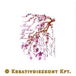 Stamperia Stencil 21x29,7 cm Ágak írással KSG365