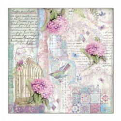 Stamperia kétoldalas papír 31,5x30 cm - Kalitka és madár SBB695