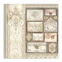 Stamperia kétoldalas papír 31,5x30 cm - Levelek SBB713