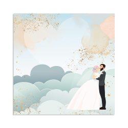Stamperia kétoldalas papír 31,5x30 cm - Felhők SBB724