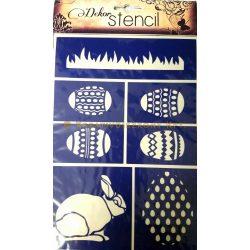 Öntapadó dekor stencil 7 húsvéti minta A5