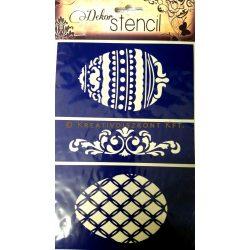 Öntapadó dekor stencil 3 húsvéti minta A5