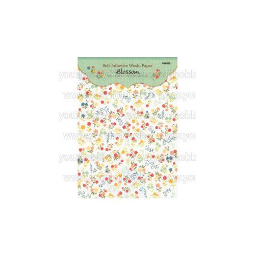 Öntapadós papír A/4 virág mintás, 5 minta/cs.