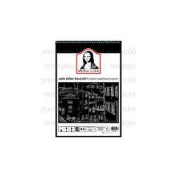 Mona Lisa vázlatfüzet fekete papírral A/4 40 lap 150 g