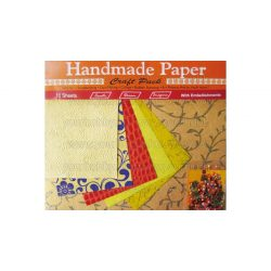 Cre Art kézzel gyártott kreatív papír 10 ív/csomag narancssárga