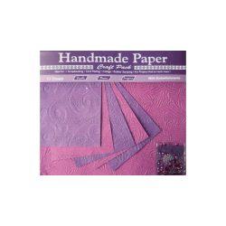 Cre Art kézzel gyártott kreatív papír 10 ív/csomag lila virág