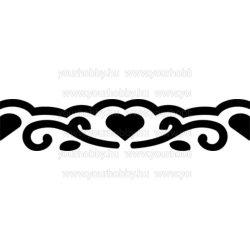 Cre Art formalyukasztó bordűr 40x10 mm szívek