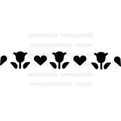 Cre Art formalyukasztó bordűr 40x10 mm szívek & tulipánok