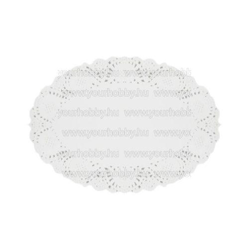 Tortacsipke, Ovális 22x31 cm, 20 lap, fehér