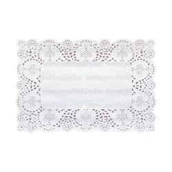 Tortacsipke, Szögletes 25x37 cm, 20 lap, fehér