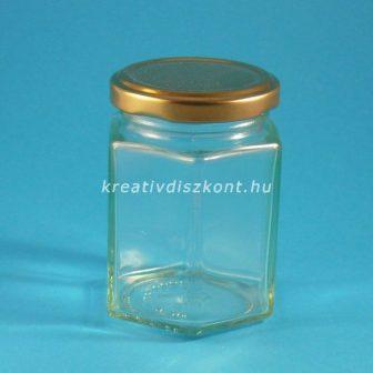 Szögletes nagy díszüveg csavaros tetővel, 150 ml -es