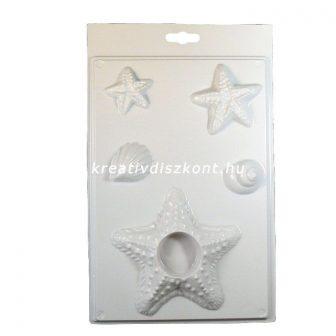 Gipszkiöntő forma, Tengeri csillag mécsestartó 5