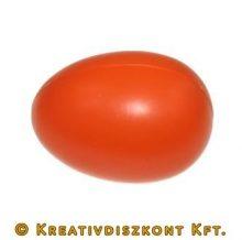Piros műanyag tojás, 6 cm