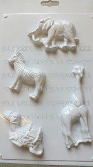 Gipszkiöntő forma, Afrikai állatok 5