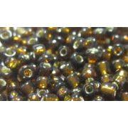 Keleti kásagyöngy ezüstközepű sok színben 2 mm-es 20gr/ cs. - barna árnyalatok