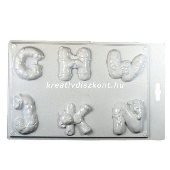 Gipszkiöntő forma, betűk 2 / G-N