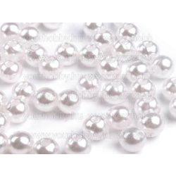 Teklagyöngy, 8 mm-es, műanyag