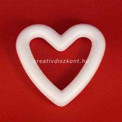 Polisztirol, szív formájú koszorú