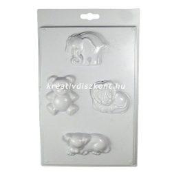 Gipszkiöntő forma, állatok 4- oroszlán