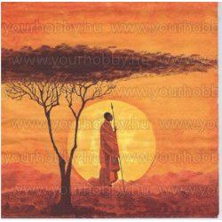 Szalvéta Afrikai harcos naplementében
