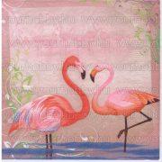 Szalvéta Flamingó pár