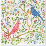 Szalvéta Varázslatos madarak